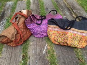 モン族バッグ縄編み持ち手