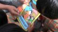 ムラピ山の幼稚園児の防災ワークショップ