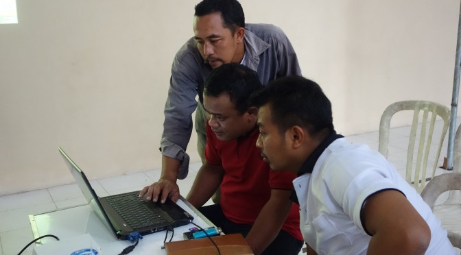 シドレジョ村での村落情報システムワークショップ
