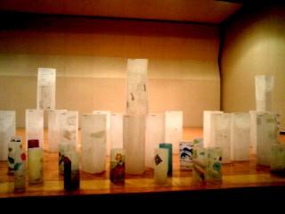 あとりえ・クルレ舞台の上の氷の彫刻たち