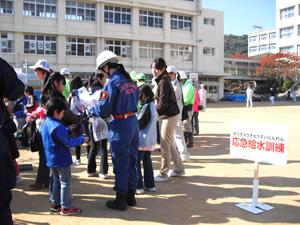 防災福祉コミュニティ給水訓練