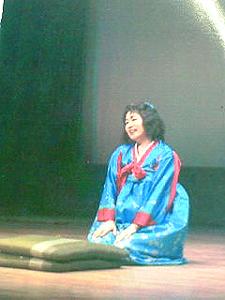 朴明子さん一人芝居