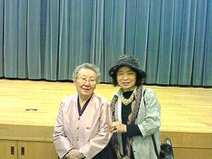 旧日本軍による性的被害者  証言集会にて  証言者