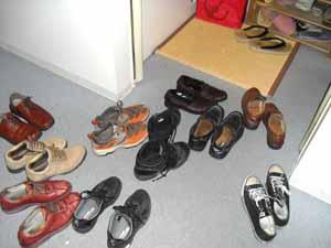 南木曽のみなさんの靴