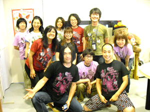 中川敬さんとともにスタジオで