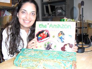vivianとアマゾンの写真、極菜色のオオム