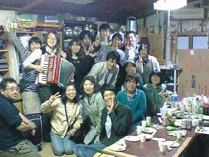 神戸大学での一人芝居公演後、懇親会