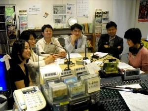 ソウル大学日本研究所の事前調査隊の教授たち