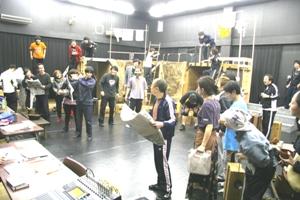 日本三文オペラ稽古風景