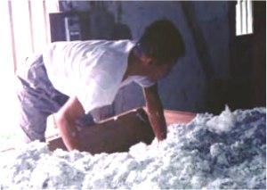 混綿作業の様子
