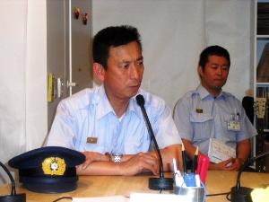 8月の「大震災を語り継ぐ」は、95年当時長田消防にいらした鍵本さん、今年4月から再び長田消防署長として赴任です。