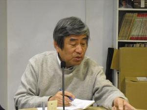 3月の「大震災を語り継ぐ」に神戸山手大学の小林郁雄教授をお迎えして震災2年を迎える東日本について大槌を中心に話していただきました。