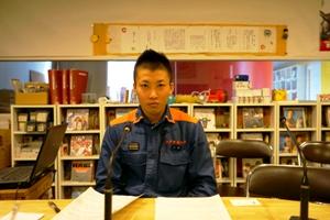 長田消防上田さん