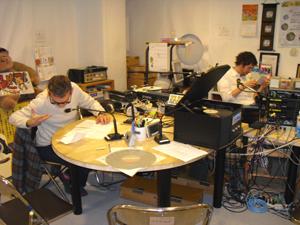 準備中のスタジオ