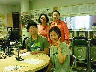 韓国人留学生  李チャンファンさん(男性)朱慧善さん(女性)