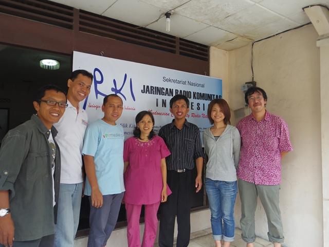 インドネシアコミュニティラジオ協会訪問