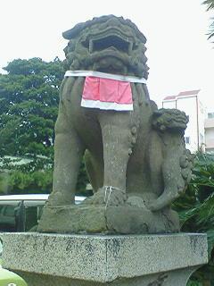 神戸・垂水 海神社の子連れ狛犬