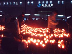新長田駅前の灯りイベント