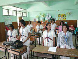 タイ山岳民族の学校の生徒たち