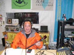 毎週月曜日13時からは「南の風」の沖縄と奄美の番組。本日は沖縄篇。 担当は陶芸家でかつ唄者でもある永江俊昭さん