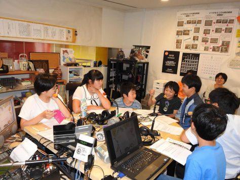 放課後ジュニアラジオ部の収録風景