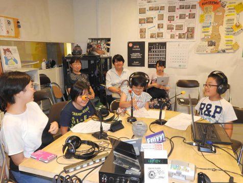キッズラジオの収録風景