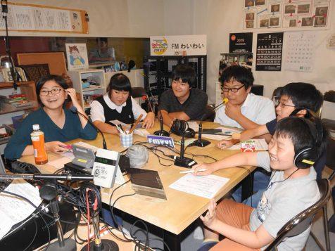 2019年7月の放課後ジュニアラジオの収録風景
