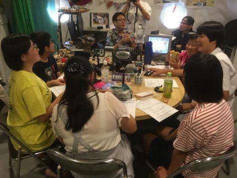 2019年8月の放課後ジュニアラジオ配信風景