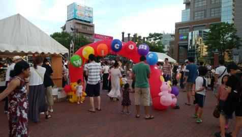 写真:兵庫駅前こどもフェスタ夜市入り口