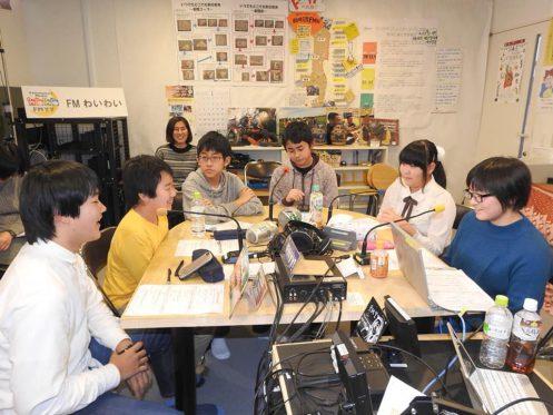 写真:放課後ジュニアラジオ部配信風景