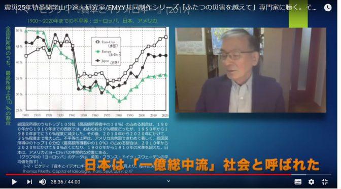 震災25年特番関学山中速人研究室/FMYY共同制作シリーズ「ふたつの災害を越えて」専門家に聴く。その2 9月26日「新型コロナ禍の世界~どこから来てどこにいくのか」日本社会の問題点は、どこにあるのか。