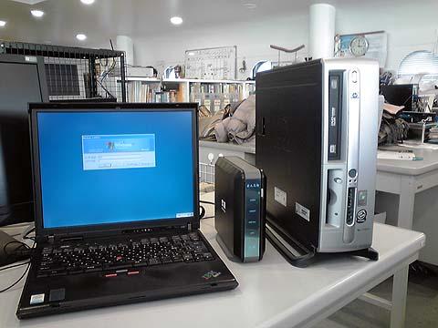 創立当時から使用してきたパソコンと共有ディスク